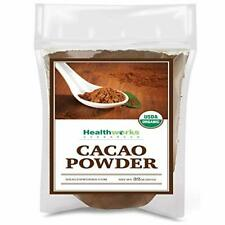 Healthworks Cacao Powder (32 Ounces / 2 Pounds)   Cocoa Chocolate Substitute   C