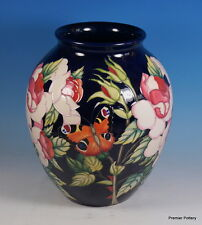 MOORCROFT RHS Wisley Roses Butterfly 61/10 Vase Limited Edition 30 1st RRP £1895