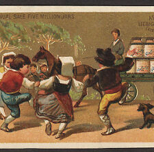 circa 1882 LIEBIG S 0076 Delivery Wagon Dog English Language American Trade Card