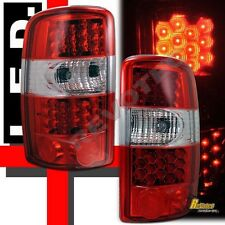 2000-2006 Chevy Suburban Tahoe GMC Yukon XL Denali LED Tail Lights Red 1 Pair