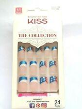 Kiss French Black Tip Medium Length 28 Nails 54250