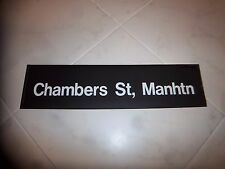 R32 NYC SUBWAY SIGN CHAMBERS STREET DESTINATION ROLL SIGN MANHATTAN NY BATTERY