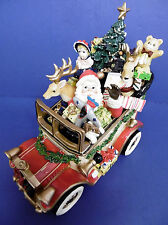"""New 2003 Fitz & Floyd Holiday Musicals Santa Mobile """"We Wish.Merry Christmas"""""""