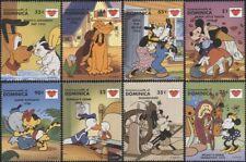 Dominica 1997 Disney/Mickey/Love/Hearts/Animation/Cartoons/Films 8v set (b245x)