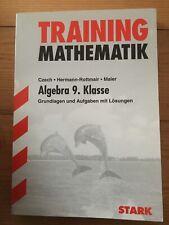 Training Mathematik Algebra 9. Klasse Grundlagen Aufgaben mit Lösungen Lernhilfe