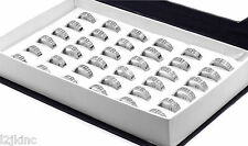 Mens 36 Pcs  Stainless Steel Hip Hop Iced Out CZ Big Block Ring Size  9 10 11 12