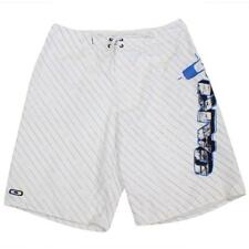 Oakley 481254AU Boardshorts Size 34 L White Blue Mens Casual Boardies Shorts