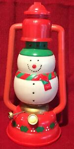 VintageHard Plastic Blow Mold Snowman Lantern J.S.N.Y.