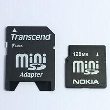 128MB NOKIA MINI SD MEMORY CARD FOR 6280/N73/N93/N810