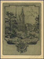 Marik Jaroslav 1938 Exlibris L1 Bookplate Architecture 1869