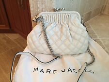 MARC JACOBS LITTLE STAM WHITE CROSSBODY BAG  SILVER HARDWARE - $995 - NWT!!!