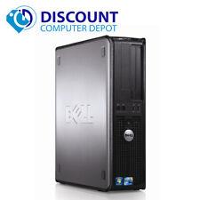 Dell Optiplex Desktop Computer Core 2 Duo Windows 10 Pc 4Gb 500Gb Dvd