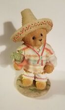 "Teddy Bear Figurine - Carlos - P. Hillman appx. 4""T x 2.5""W x 2""L Vg"