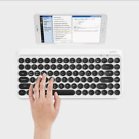 ACTTO Retro Design Tenkeyless Mini Bluetooth Keyboard White Portable_V