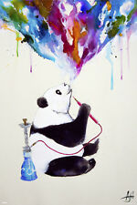 PANDA BEAR HOOKAH 24x36 POSTER NEW COOL GANJA SMOKE HERBAL FUNNY RELAXATION FUN!