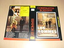 JAQUETTE VHS Les Hommes Michel Constantin Marcel Bozzuffi