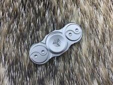 "WE KNIFE Fidget Spinner Yin Yang Matte Gray Titanium Hand Top Ceramic 2"" S01C"