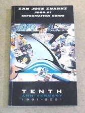 SAN JOSE SHARKS NHL HOCKEY MEDIA GUIDE - 2000 2001 - NEAR MINT