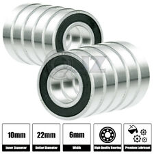 10x [6900-2RS] Ball Bearing 10mm x 22mm x 6mm Rubber Seal Premium RS  Shielded