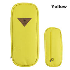 Simple Multifunction Canvas Pencil Case Stationery Storage Pen Bag ZIPPER Boxes Yellow