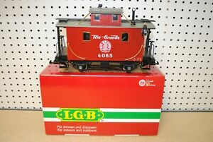 LGB 40650 Rio Grande Caboose Car w/Lights & Metal Wheels *G-Scale*