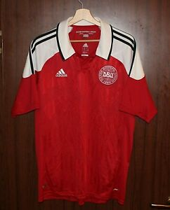 LIMITED EDITION 2012 DENMARK Football Shirt Jersey size L ADIDAS Tricot Camiseta