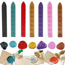10pcs Sealing Wax Seal Sticks w/ Cord Wick For Postage Letter Cards Multi-Color