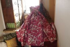 """LAURA ASHLEY INTERLINED CURTAINS CRANBERRY LORI FIXED PLEAT 78""""L/37 TOP/66 HEMS"""