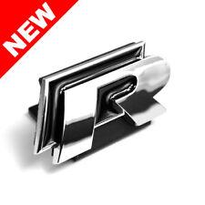VW R-LINE GRILLE EMBLEM BADGE - BLACK/CHROME