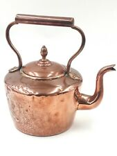 Antique Victorian Copper and Brass Kettle 2.2 Litres Acorn Lid
