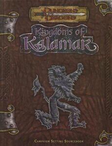 KINGDOMS OF KALAMAR CAMPAIGN SETTING w/MAPS VF! Sourcebook D&D Dungeons Dragon