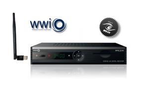 WWIO BRE2ZE DVB-S2 4K Satelliten Receiver, PVR Ready, 2xUSB, LAN, USB WLAN-Stick