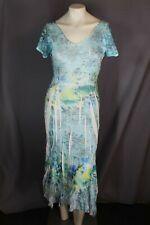 KOMAROV Blue Floral Short Sleeve Dress Women's Size L