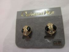 possibly vintage?? christian dior  clip on earrings still on display card