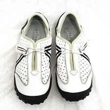 Clarks Privo Tequini Shoes Womens Sport Flats 6.5M White Black Pull On Driving