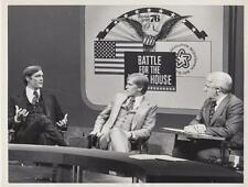 Jack and Steven Ford speak with ABC News Anchor man Harry Reasoner- Press Photo