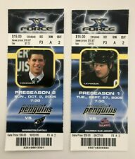Sidney Crosby NHL PreSeason Debut Tickets. Lemieux Final Season 9/27 10/2 2005