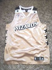 Authentic Blank Washington Wizards jersey Bullets Gold Alternate Wall Beal 56