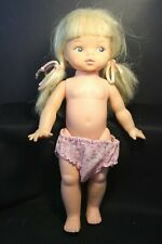 "HORSMAN -Toddler Doll with Blonde Pingtails and painted eyes - 13"" tall"