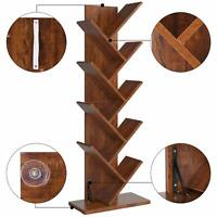 9-Shelf Decor Tree Shape Bookshelf Bookcase Rack Display Storage Organizer New