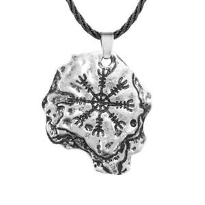Slavic Amulet Necklace Norse Viking Mens Jewelry Cross Pendant Metal Rune New