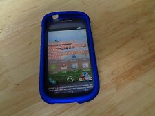 New Samsung Galaxy Centura or Discover Plastic Protector Cover-blue.