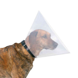 Trixie Transparent Dog Vet Elizabethan  Cone Collar Wound Healing Brace 7 sizes