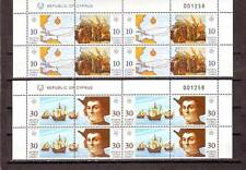 CYPRUS - SG818-821 MNH 1992 EUROPA - DISCOVERY OF AMERICA - BLOCKS OF 4