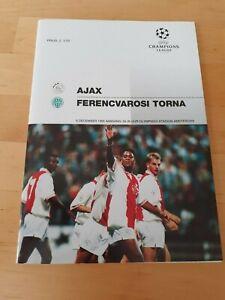 Ajax V Ferencvaros - Champions League Group Stage - 1995/96