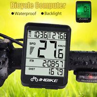 Waterproof Wireless Cycling Bike Bicycle Computer Backlight Speedometer Odometer