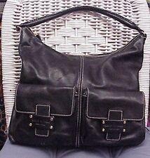 KATE SPADE designer black leather shoulder bag/tote/hobo/satchel