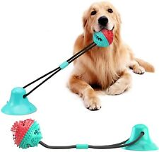 Dog Toys Silicon Suction Cup Tug Interactive Dog Ball Toy For Pet Chew Bite Toot