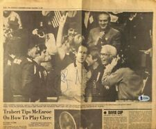 John McEnroe Signed The Cincinnati Enquirer Newspaper BAS