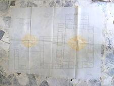 ENORME PIANTINA BORDOLANO CREMONA  VILLA ZACCARIA 1904 mappa ettore signori